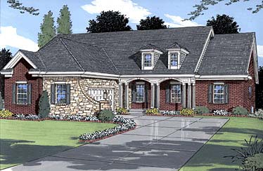 Country House Plan 50019 Elevation