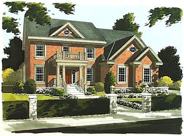 Colonial House Plan 50020 Elevation