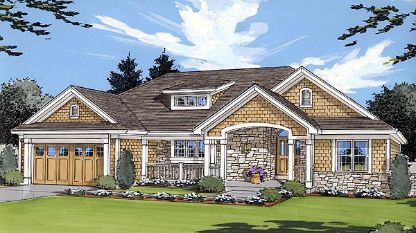 Bungalow Country House Plan 50021 Elevation