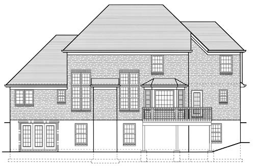 European Traditional House Plan 50023 Rear Elevation