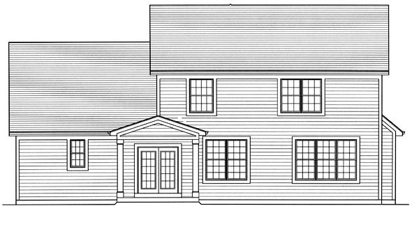 Craftsman Traditional House Plan 50025 Rear Elevation