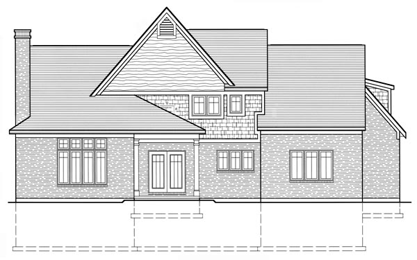 Country Traditional House Plan 50028 Rear Elevation
