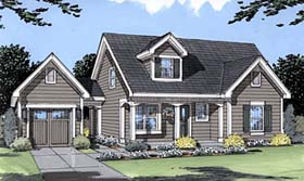 Cape Cod Country Southern House Plan 50035 Elevation