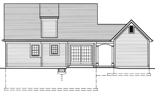 Cape Cod Country Southern House Plan 50035 Rear Elevation