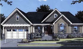 Bungalow Traditional House Plan 50038 Elevation