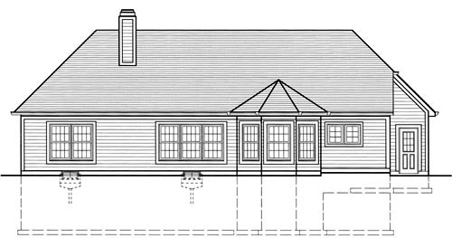 Bungalow Traditional House Plan 50038 Rear Elevation