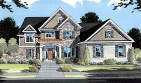 European Traditional House Plan 50039 Elevation