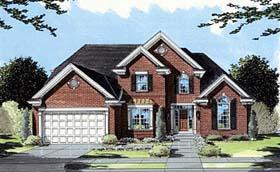 European Traditional House Plan 50041 Elevation