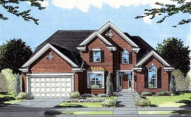 European, Traditional House Plan 50041 with 4 Beds, 4 Baths, 2 Car Garage Elevation