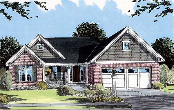Bungalow Traditional House Plan 50042 Elevation