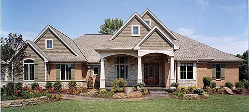 Bungalow Traditional House Plan 50043 Elevation