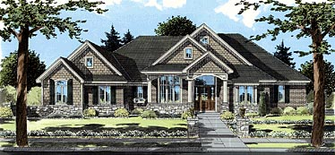 Bungalow Traditional House Plan 50043
