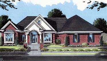 European House Plan 50044 Elevation