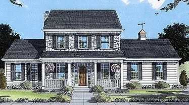 Colonial Country Southern House Plan 50048 Elevation