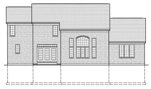 Traditional House Plan 50049 with 3 Beds, 3 Baths, 2 Car Garage Rear Elevation