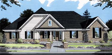 Bungalow Traditional House Plan 50050 Elevation