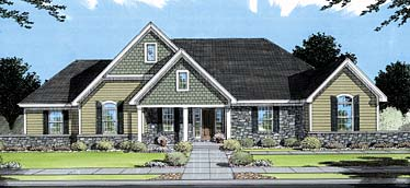 Bungalow Traditional House Plan 50051 Elevation