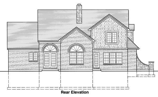 Bungalow Country Traditional House Plan 50053 Rear Elevation