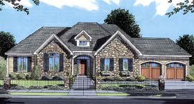 Bungalow Traditional House Plan 50054 Elevation