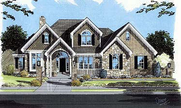 Bungalow, European, Traditional House Plan 50055 with 4 Beds, 4 Baths Elevation