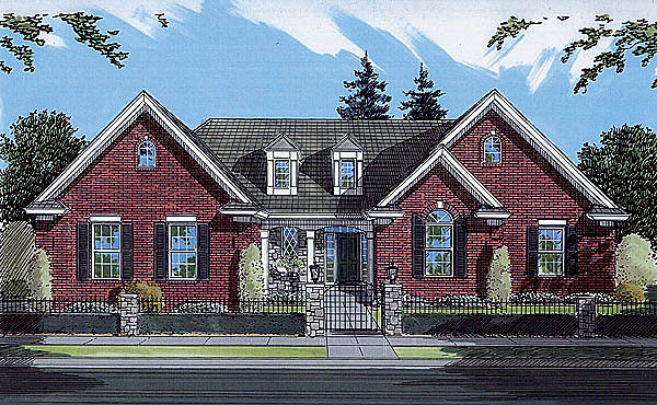 Traditional House Plan 50056 Elevation