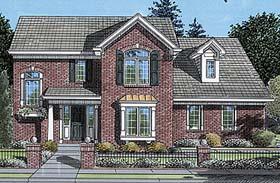 Colonial European House Plan 50057 Elevation