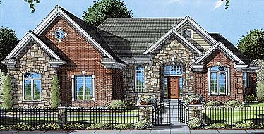 European House Plan 50058 Elevation