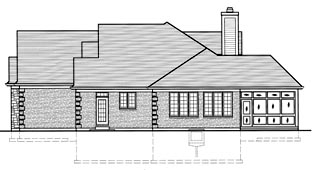 European House Plan 50058 with 3 Beds, 3 Baths, 2 Car Garage Picture 2