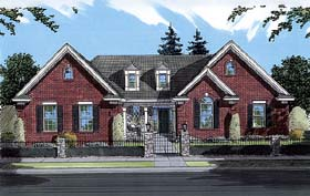 Bungalow , Tudor House Plan 50059 with 3 Beds, 2 Baths, 2 Car Garage Elevation