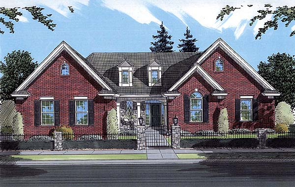 Bungalow Tudor House Plan 50059 Elevation