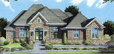 House Plan 50061 Elevation