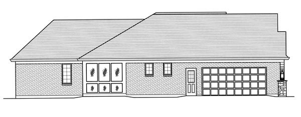 Traditional House Plan 50069 with 3 Beds, 2 Baths, 2 Car Garage Picture 1
