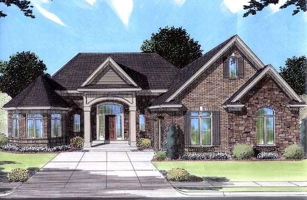 European Traditional Victorian House Plan 50070 Elevation