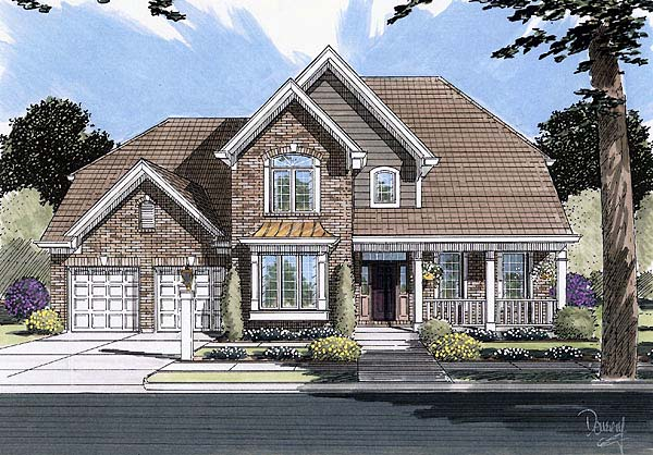 Country European House Plan 50072 Elevation
