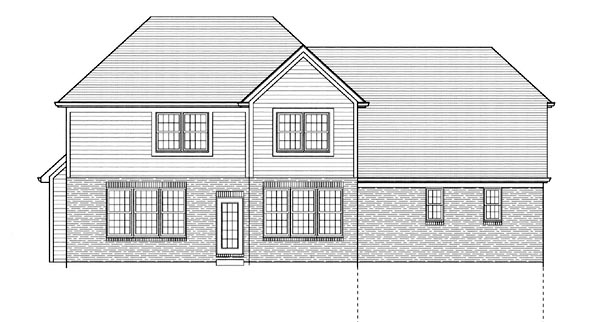 Country European House Plan 50072 Rear Elevation