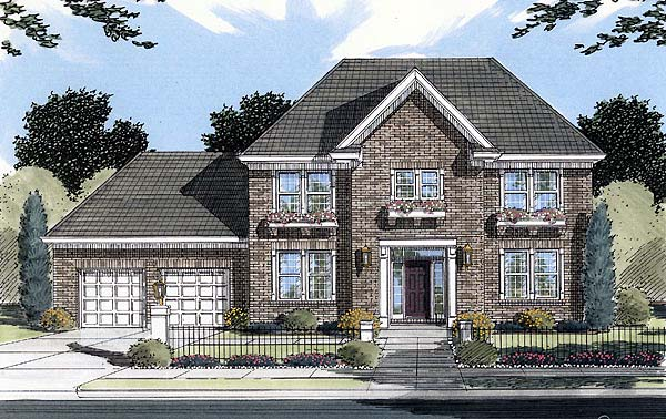 Colonial House Plan 50077 Elevation