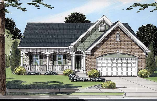 Bungalow Country European House Plan 50085 Elevation