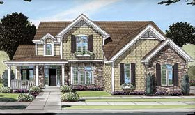 Bungalow , Country House Plan 50087 with 4 Beds, 3 Baths, 2 Car Garage Elevation