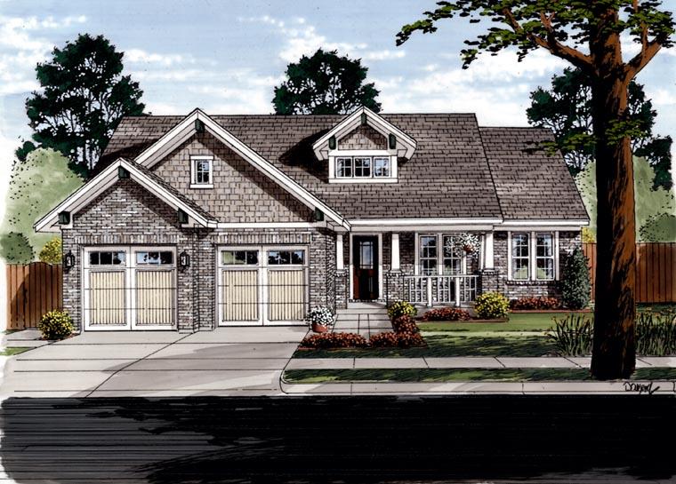 Craftsman House Plan 50088 Elevation