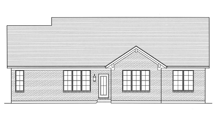 Craftsman House Plan 50088 Rear Elevation