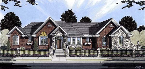 Traditional House Plan 50090 Elevation