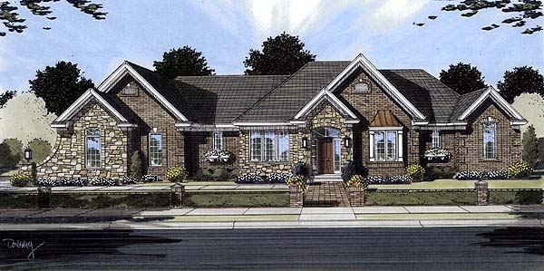 Traditional House Plan 50091 Elevation