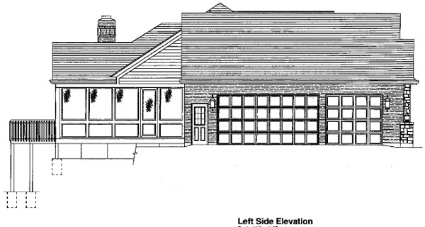 Traditional House Plan 50091 with 3 Beds, 2 Baths, 3 Car Garage Picture 2