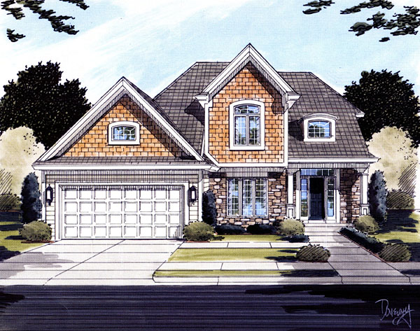 House Plan 50093 Elevation