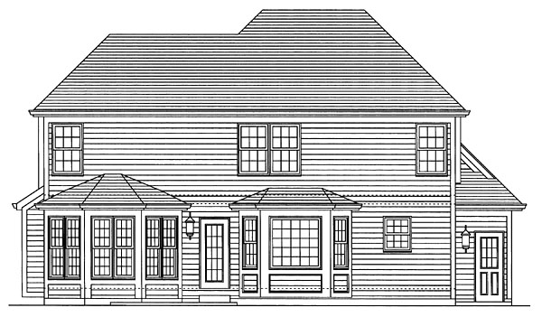 House Plan 50093 Rear Elevation