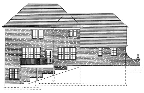 House Plan 50094 Rear Elevation