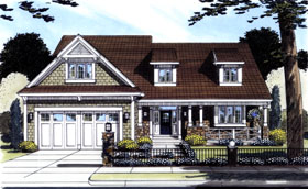 Traditional House Plan 50097 with 4 Beds, 3 Baths, 2 Car Garage Elevation