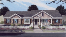 Traditional House Plan 50099 Elevation