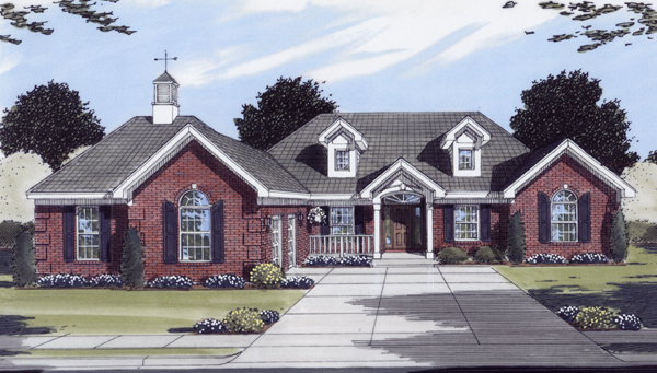 House Plan 50100 | Ranch Southern Style Plan with 1824 Sq Ft, 3 Bedrooms, 2 Bathrooms, 2 Car Garage Elevation