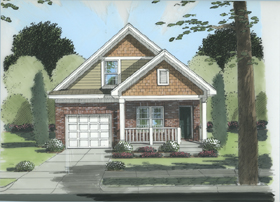 House Plan 50101 | Southern Style Plan with 1728 Sq Ft, 3 Bedrooms, 2 Bathrooms, 1 Car Garage Elevation